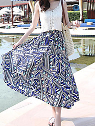 Women's Maxi Skirts,Simple A Line Floral Floral