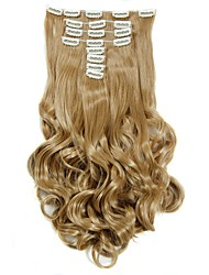 Synthetic Hair False Hair Extensions 20inch 150g Curly Hairpiece Heat Resistant Hair D1022  27#
