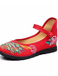 Damen-Loafers & Slip-Ons-Lässig-LeinwandKomfort-Rot