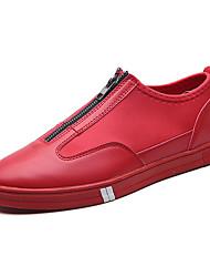 Herren Sneakers Frühjahr Sommer Komfort Leder lässig rot schwarz weiß