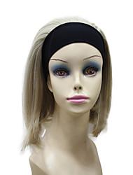 Capless short bob mixte couleur 3/4 perruque de cheveux synthétique sans colis