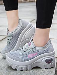 Damen-Sneaker-Lässig-PUKomfort-Schwarz Grau Blau