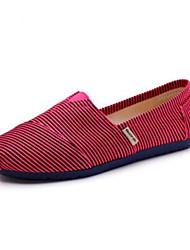 Loafers para mulheres&Slip-ons primavera conforto luz solas lona casual
