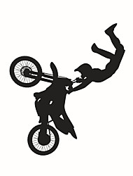 Wall Stickers Wall Decals Style Creativity Ride A Bike PVC Wall Stickers