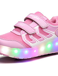 2017 Kids Boy Girl's Roller Skate Shoes / Ultra-light One Two Wheel Skating LED Light Shoes / Athletic / Casual LED Wheely's Shoes Black Pink Blue