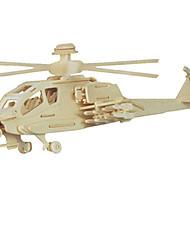Quebra-cabeças Quebra-Cabeças 3D Blocos de construção Brinquedos Faça Você Mesmo Helicóptero Madeira Modelo e Blocos de Construção