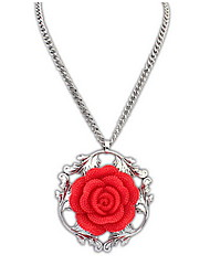 Court Rose Necklace Euramerican Flower Chain Pendant Necklace