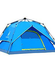 徽羚羊 3-4 persons Tent Double Automatic Tent One Room Camping Tent Oxford Waterproof Breathability Ultraviolet Resistant Windproof Foldable-