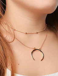 Women's Choker Necklaces Pendant Necklaces Moon Alloy Dangling Style Pendant Euramerican Fashion Personalized Jewelry ForParty Special