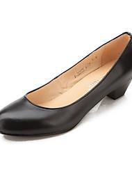 Feminino-Mocassins e Slip-Ons-Conforto-Salto Grosso--Outras Peles de Animais-Casual