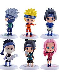 Las figuras de acción del anime Inspirado por Naruto Naruto Uzumaki PVC 7*7*6.5 CM Juegos de construcción muñeca de juguete