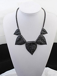 Black Peach Heart Leaes Leaf Necklace Hypoallergenic Rock Statement Strands Collar Choker  Necklaces