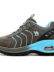 Серый Пурпурный-Для женщин-Для прогулок-Мех-На плоской подошве-Удобная обувь-Спортивная обувь