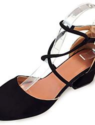 Women's Sandals Summer Comfort PU Outdoor Low Heel Almond Black