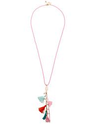 Women's Bohemian Handcraft Colourful Tassel Pendant Necklace