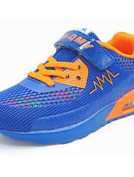 Светло-синий Цвет экрана Тёмно-синий-Мальчики-Повседневный-Тюль-На плоской подошве-Удобная обувь-Спортивная обувь