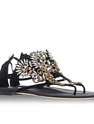Женские сандалии летние slingback pu casual gold