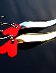 """2 pcs Metal Bait Fishing Lures Pike g/Ounce,45 mm/1-3/4"""" inch,Metal Bait Casting"""