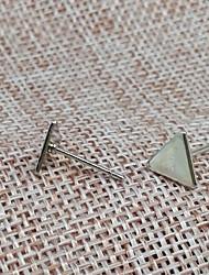 Boucles d'oreille goujon Basique Alliage Forme de Triangle Bijoux Pour 1 paire