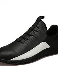Мужская спортивная обувь весна лето комфорт пу открытый спортивный случайный шнурок ходить