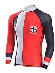Homens Camisa de Mergulho Respirável Secagem Rápida Design Anatômico Náilon Chinês Fato de Mergulho Manga Comprida Blusas-Mergulho