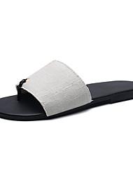 Men's Slippers & Flip-Flops Summer Comfort Denim Casual Gray Black
