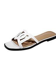 Sandales pour femmes summer slingback pu casual white