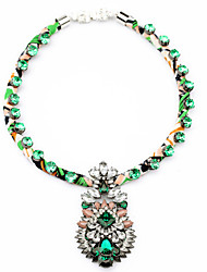 Women's Strands Necklaces Geometric Chrome Unique Design Light Green Jewelry For Gift Daily 1pc
