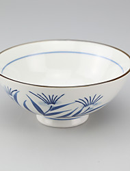 High Temperature Porcelain Japanese Styled Hand Painted Rice Bowl