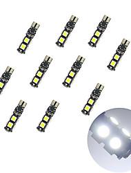 10pcs t10 расшифровывание 9 * 5050 smd chalkboard вело свет электрической лампочки dc12v электрической лампочки автомобиля