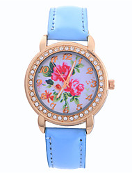 Women's Fashion Watch Quartz Leather Band Casual Blue Pink Navy