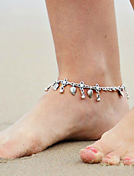Women's Body Jewelry Leg Chain Anklet Bracelet Handmade Bohemian Alloy Drop Silver Jewelry For Casual Sports 1 pc