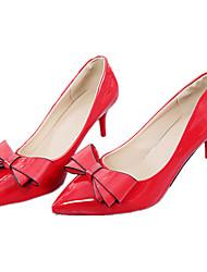 Damen-High Heels-Lässig-PU-Niedriger Absatz-Komfort-Schwarz Weiß