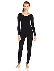 Zentai Anzüge Morphsuit Ninja Cosplay Zentai Kostüme Cosplay Kostüme Schwarz Weiß Beige Einheitliche Farbe Gymnastikanzug/Einteiler