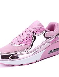 Femme Chaussures d'Athlétisme Confort Tulle Printemps Automne Décontracté Marche Confort Combinaison Talon Plat Noir Argent Rose 5 à 7 cm