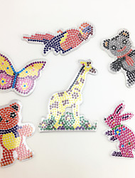 3PCS 5MM Fuse Beads Template Clear Pegboard Colorful Giraffe Parrot Bear Shape Pegboard DIY Jigsaw for 5mm Fuse Beads(Random Mixed Shape)