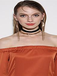 Gargantillas Pendientes / pulsera cuelga los pendientes Joyas Colgante Moda Personalizado Euramerican Tejido Dorado PlataCollares