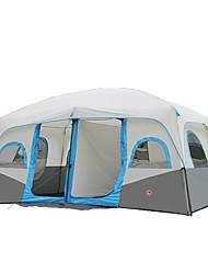 CAMEL > 8 persone Tenda Doppio Tenda da campeggio Tende da campeggio formato famiglia Tenere al caldo Ompermeabile Portatile