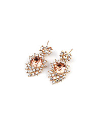 Drop Earrings Jewelry Fashion Vintage Gem Alloy Jewelry Brown Jewelry For Party Gift Casual 1 pair