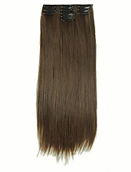 False Hair Extension 11 Clips Clip in Hair Extensions Synthetic Hair Apply Hairpiece 22 Long Straight Hairpieces D1020 2/30#