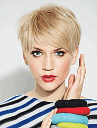 Comfortable Fluffy Partial Fringe Short Hair  Human Hair Wig Elegant  Woman hair