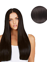 7 Pcs/Set #1b Natural Black Off Black Clip In Hair Extensions 14Inch  18Inch 100% Human Hair