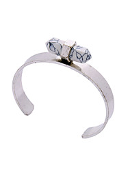 Women's Cuff Bracelet Vintage Alloy Bicone Shape Silver Gold Jewelry For Party Special Occasion Anniversary 1pc
