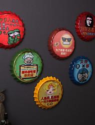 1PC Random Color Original Bar Accessories Wall Decor Metal Contemporary Retro Wall Art1