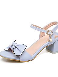 Femme-Mariage Habillé Soirée & Evénement--Gros Talon-Bride de Cheville Flower Girl Chaussures De minuscules talons pour les ados-Sandales-