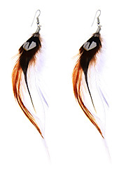 lureme® Drop Earrings Jewelry Basic Unique Design Punk Stretch Luxury Feather Alloy Geometric Wings / Feather Jewelry ForParty