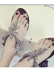 Damen Sandalen Frühjahr Komfort Pu Casual Silber