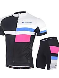 Nuckily Maillot et Cuissard de Cyclisme Vélo Ensemble de Vêtements Séchage rapide Résistant aux ultraviolets La peau 4 densités Bandes