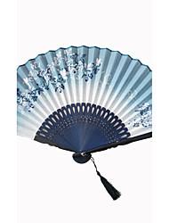 The Linen Fly Butterfly Fabric Fan Random Pattern (Set of 1)