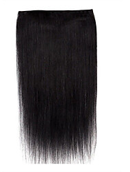18inch one piece 5 clip in 100% remy human hair extension handmade
